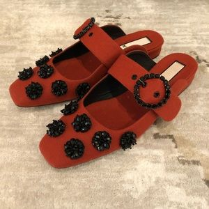 No21 Embellished Mules with Buckle